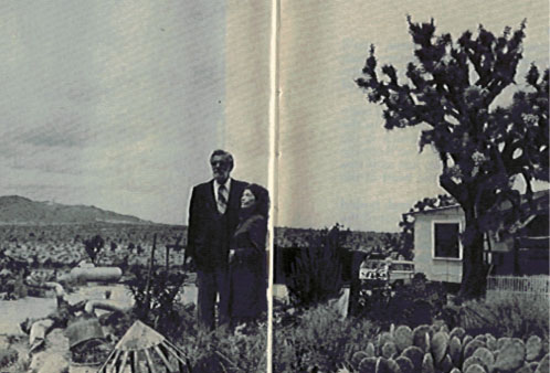 Charles and Marjory Johnson In Desert