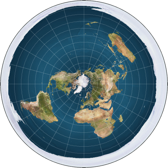 A Modern Flat Earth Map